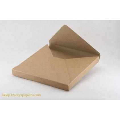 A box /envelope 3D- 15x15x1,5  kraft - Rzeczy z Papieru