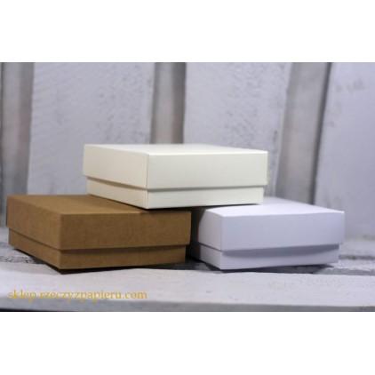 Gift box with a lid 8x8x3 white - Rzeczy z Papieru