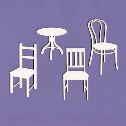 Tekturka -Crafty Moly - Krzesła i stolik - G6