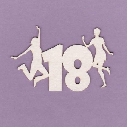 Tekturka -Crafty Moly - napis - 18 urodziny - G3