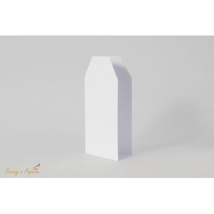 Baza do kartki TAG - biała - DL 10x21- Rzeczy z Papieru