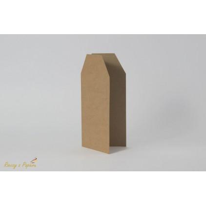 Baza do kartki TAG - kraft - DL 10x21- Rzeczy z Papieru