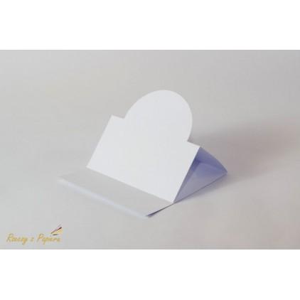 Baza sztalugowa okrągła - biała -14 x 14- Rzeczy z Papieru