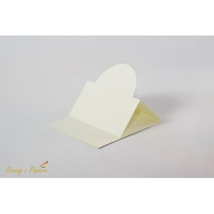 Easel base round - 14 x 14 DL white  - Rzeczy z Papieru