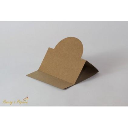 Easel base round - 14 x 14 kraft - Rzeczy z Papieru