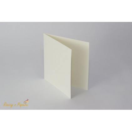 Baza do kartki kwadratowa- kremowa -14 x 14 - Rzeczy z Papieru