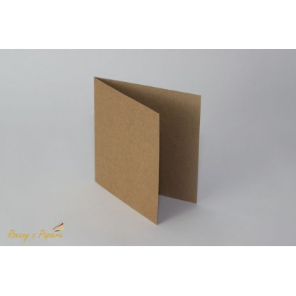 Base for the card square - 14 x 14 kraft  - Rzeczy z Papieru