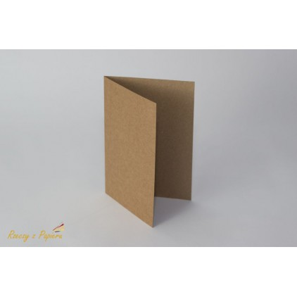 Base for the card horizontal - C6 kraft- Rzeczy z Papieru