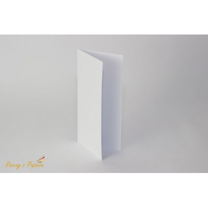 Base for card  DL - 10 x 21 white  - Rzeczy z Papieru