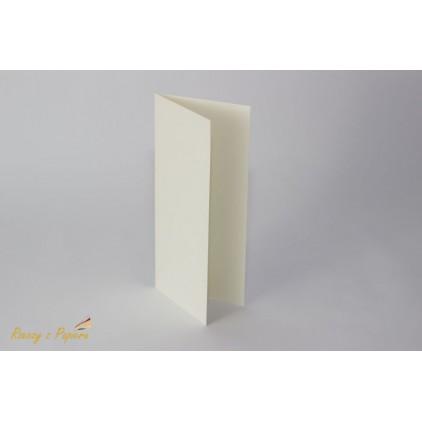 Baza do kartki DL - kremowa -10x21- Rzeczy z Papieru
