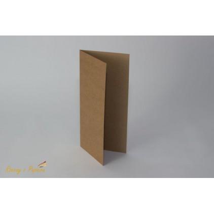 Baza do kartki DL - kraft - 10x21- Rzeczy z Papieru
