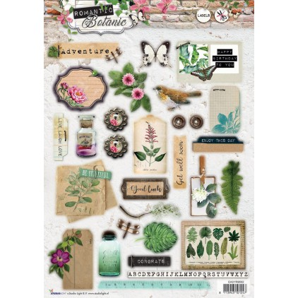 Die Cut Sheet Labels - Studio Light - Romantic Botanic - EASYRB591