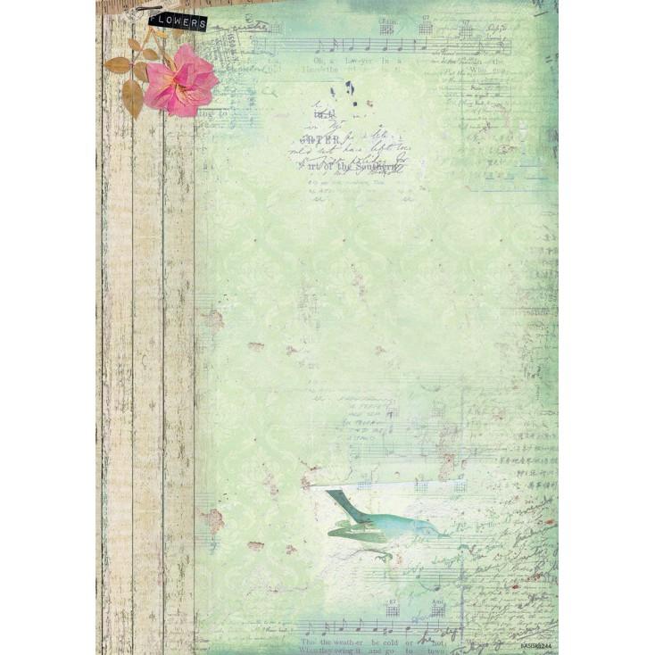 Scrapbooking paper A4 - Studio Light - Beautiful Flowers - BASISBF219