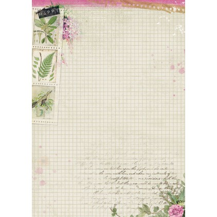 Papier do tworzenia kartek i scrapbookingu A4 - Studio Light - Romantic Botanic - BASISRB247