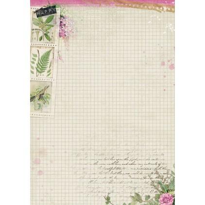 Papier do tworzenia kartek i scrapbookingu A4 - Studio Light - Romantic Botanic  - BASISRB247