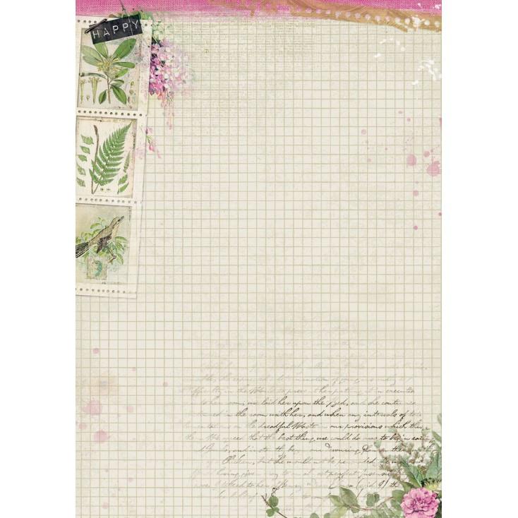 Papier do tworzenia kartek i scrapbookingu A4 - Studio Light - Romantic Botanic - BASISRB246