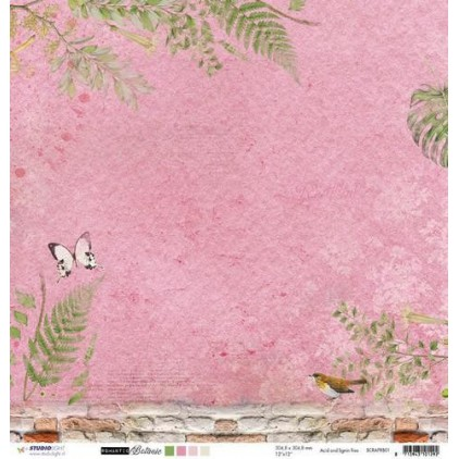 Papier do tworzenia kartek i scrapbookingu - Studio Light - Romantic Botanic - SCRAPRB01