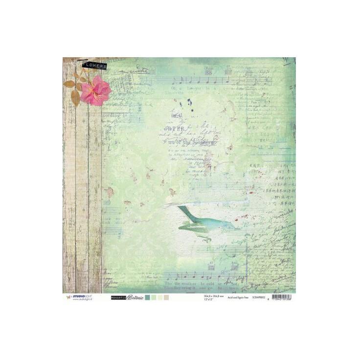 Scrapbooking paper - Studio Light - Romantic Botanic - SCRAPRB01
