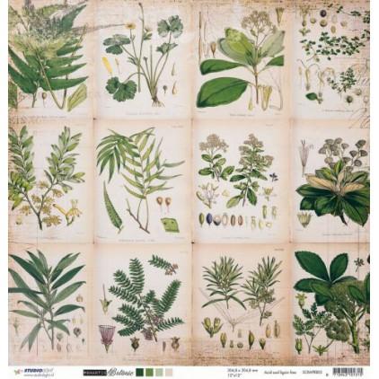 Papier do tworzenia kartek i scrapbookingu - Studio Light - Romantic Botanic - SCRAPRB03