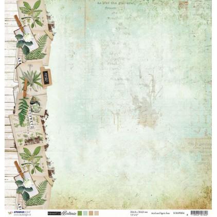 Papier do tworzenia kartek i scrapbookingu - Studio Light - Romantic Botanic - SCRAPRB04