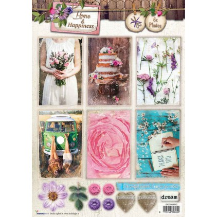Die Cut Sheet Photo's - Studio Light - Home & Happiness - EASYHH541