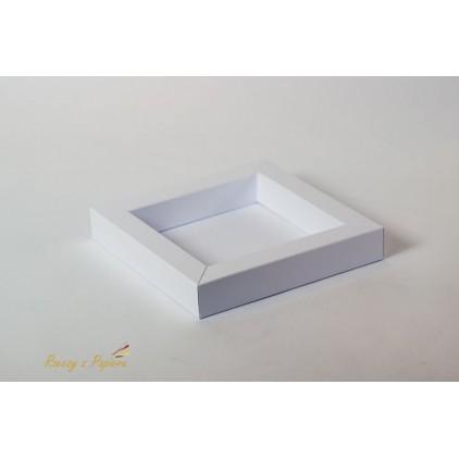 Pudełko shadow box 15x15x2,5 białe - Rzeczy z Papieru