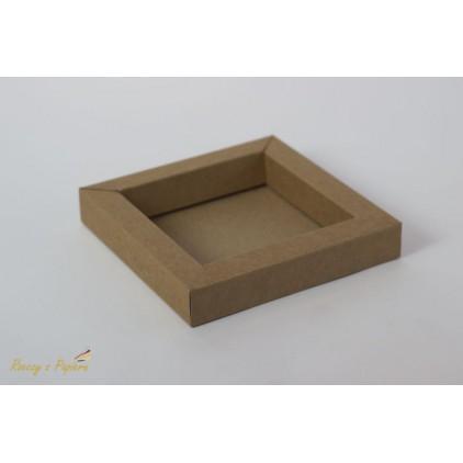 Pudełko shadow box 15x15x2,5 kraft - Rzeczy z Papieru