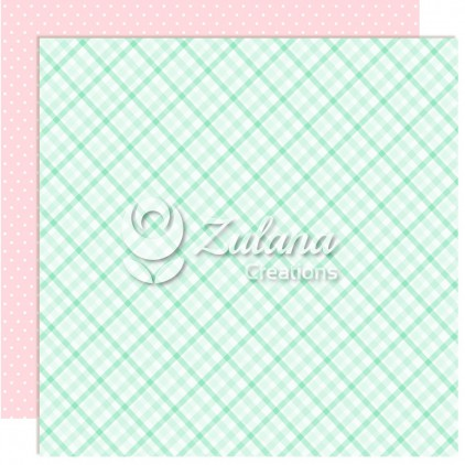 Papier do tworzenia kartek i scrapbookingu - Zulana Creations - Cute Baby Girl 06
