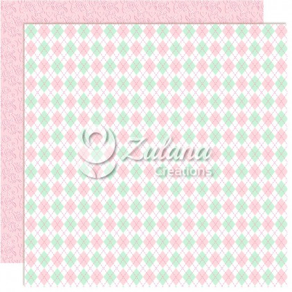 Papier do tworzenia kartek i scrapbookingu - Zulana Creations - Cute Baby Girl 03