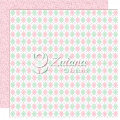 Scrapbooking paper - Zulana Creations - Cute Baby Girl 03