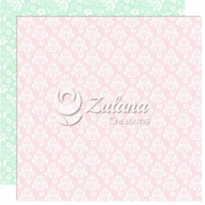 Papier do tworzenia kartek i scrapbookingu - Zulana Creations - Cute Baby Girl 02