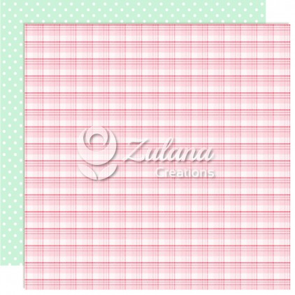 Papier do tworzenia kartek i scrapbookingu - Zulana Creations - Cute Baby Girl 01