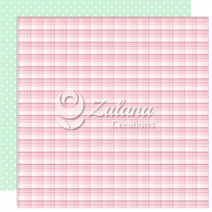 Papier do tworzenia kartek i scrapbookingu - Zulana Creations - Cute Baby Girl 01
