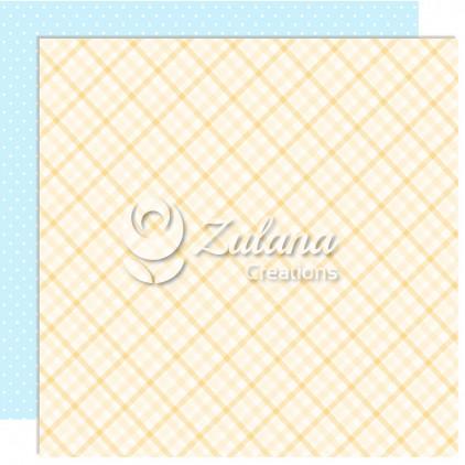 Papier do tworzenia kartek i scrapbookingu - Zulana Creations - Cute Baby Boy 06