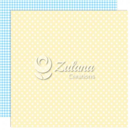 Papier do tworzenia kartek i scrapbookingu - Zulana Creations - Cute Baby Boy 04