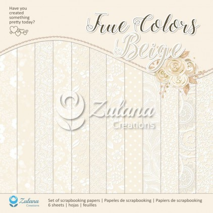 Set of scrapbooking papers - Zulana Creations - True Colors - Beige