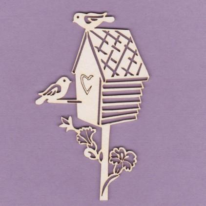 Budka z ptakiem 1 tekturka - Crafty Moly 798