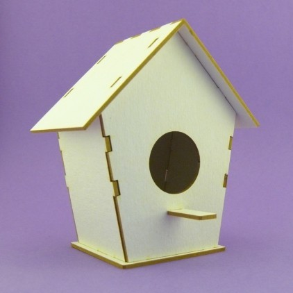 Cardboard element - Crafty Moly - Shed for a 3D bird