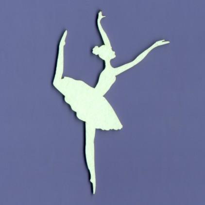Ballerina 3 laser cut, cardboard - Crafty Moly 1075
