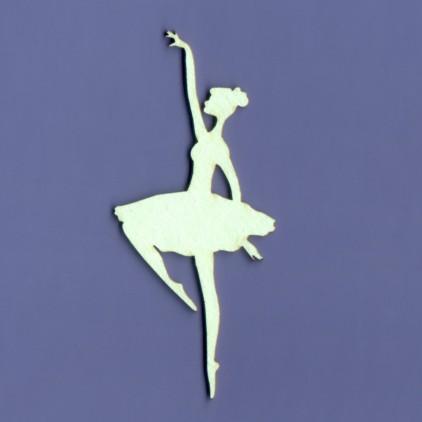 Ballerina 2 laser cut, cardboard - Crafty Moly 1073