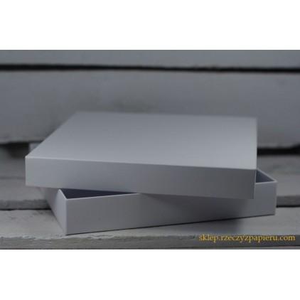 Pudełko na kartkę pełne, niskie kwadratowe 15x15x2,5  białe - Rzeczy z Papieru