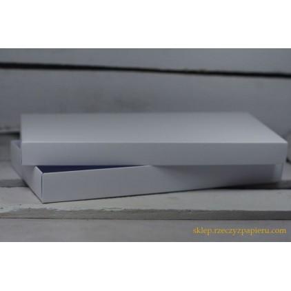 A box for card a full, low , DL 11x22x2,5  white - Rzeczy z Papieru