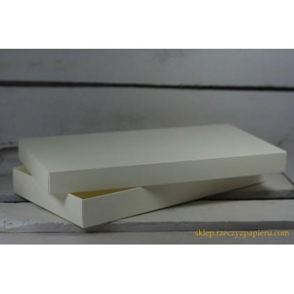 Pudełko na kartkę DL pełne, niskie 11,0 x 22,0 x 2,5 kremowe - Rzeczy z Papieru