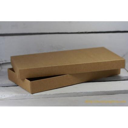 A box for a card DL full, low - 11,0 x 22,0 x 2,5 kraft - Rzeczy z Papieru