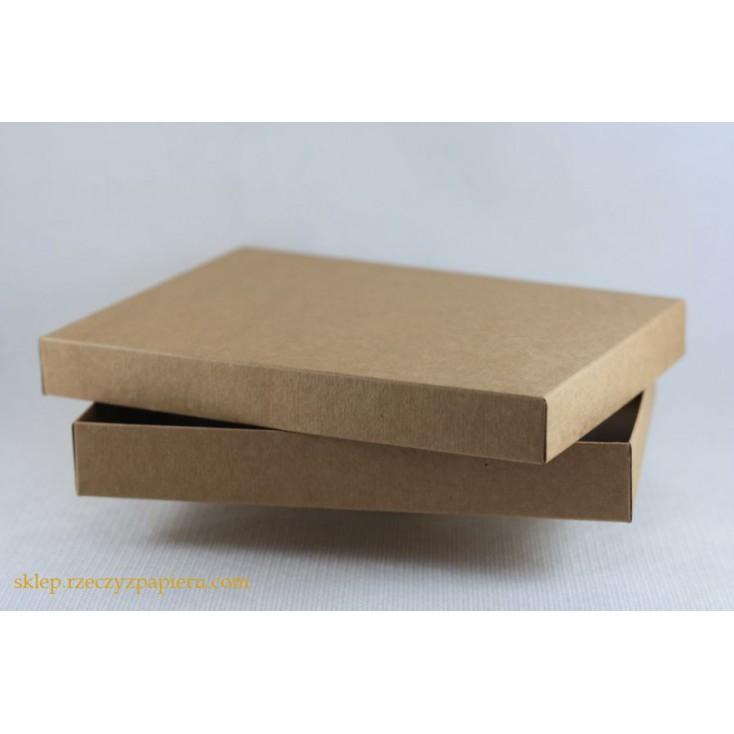 Pudełko na kartkę C6 pełne, niskie 12,4x17,2x2,5 kraft- Rzeczy z Papieru