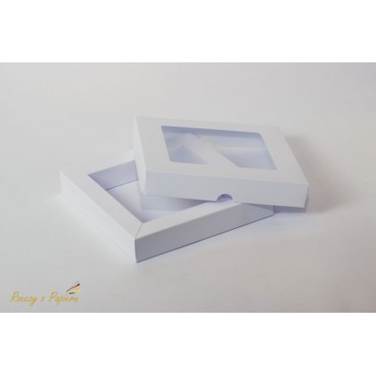 Shadow box with window 15x15x2,5 white - Rzeczy z Papieru