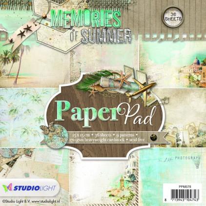 Mały bloczek papierów do scrapbookingu - Studio Light -  Memories of Summer -  PPMS78