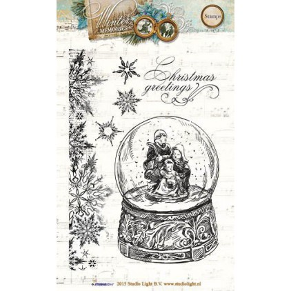 Set of clear stamps - Studio Light - A6 - Winter Memories - STAMWM116