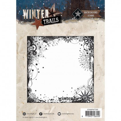 Set of clear stamps - Studio Light - 14x14 -Winter Trails - STAMWT305
