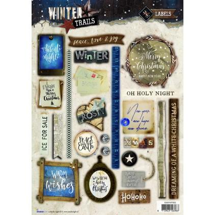 Die Cut Sheet LAbels - Studio Light - Winter Trails - EASYWT632